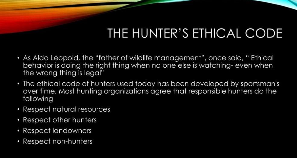 Ethical Code of Hunter