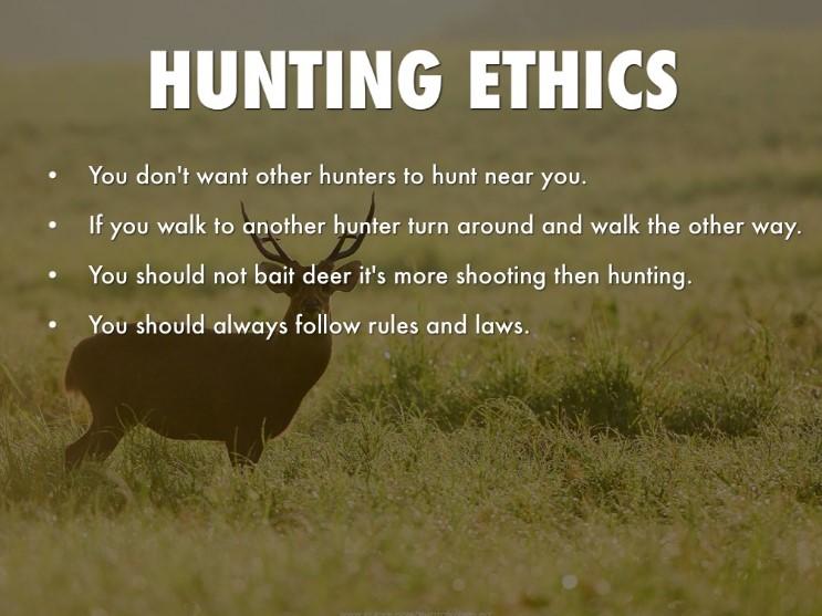 Ethics of a Hunter